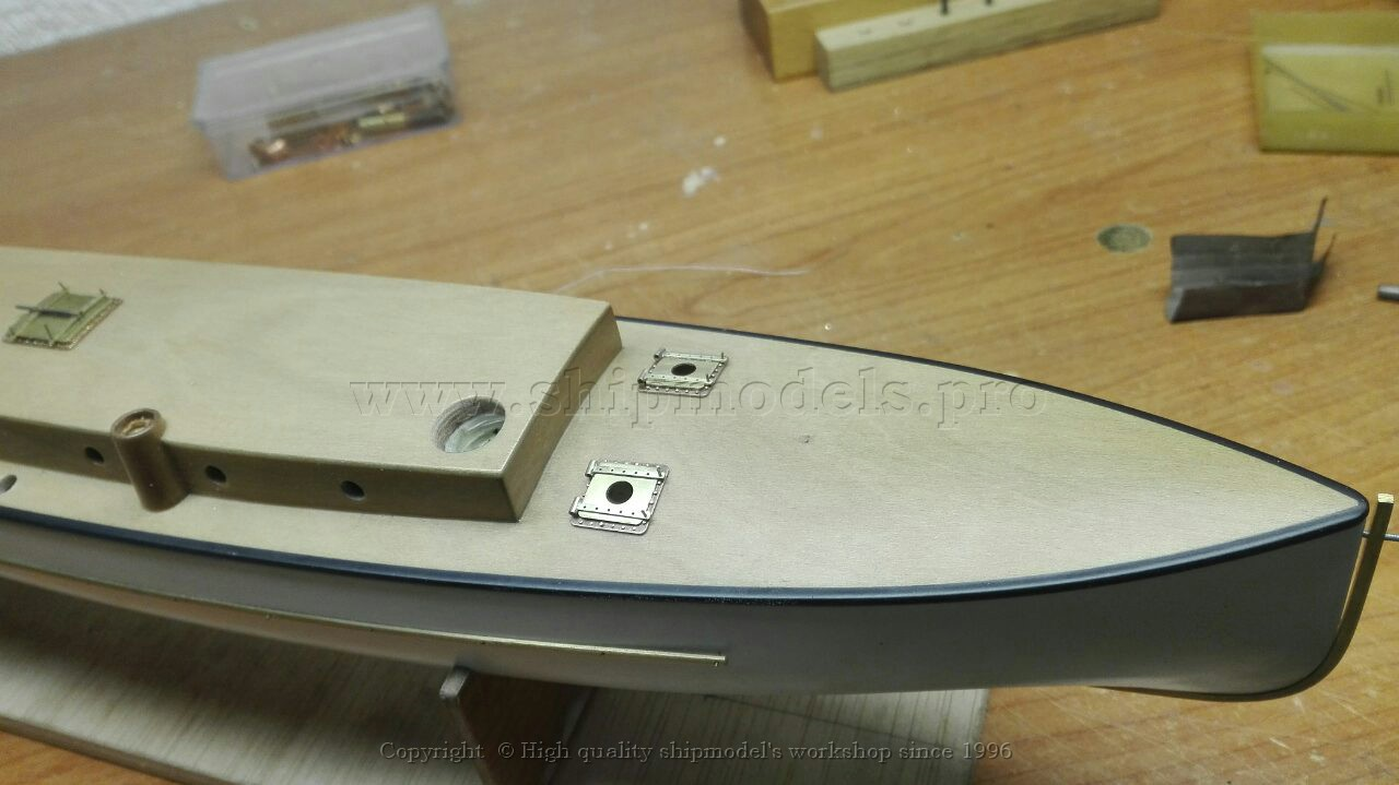 Detailing process of work: The boat model of 51-feet STEAM TORPEDO BOAT (Russia) 1890 year. Scale 1:36.