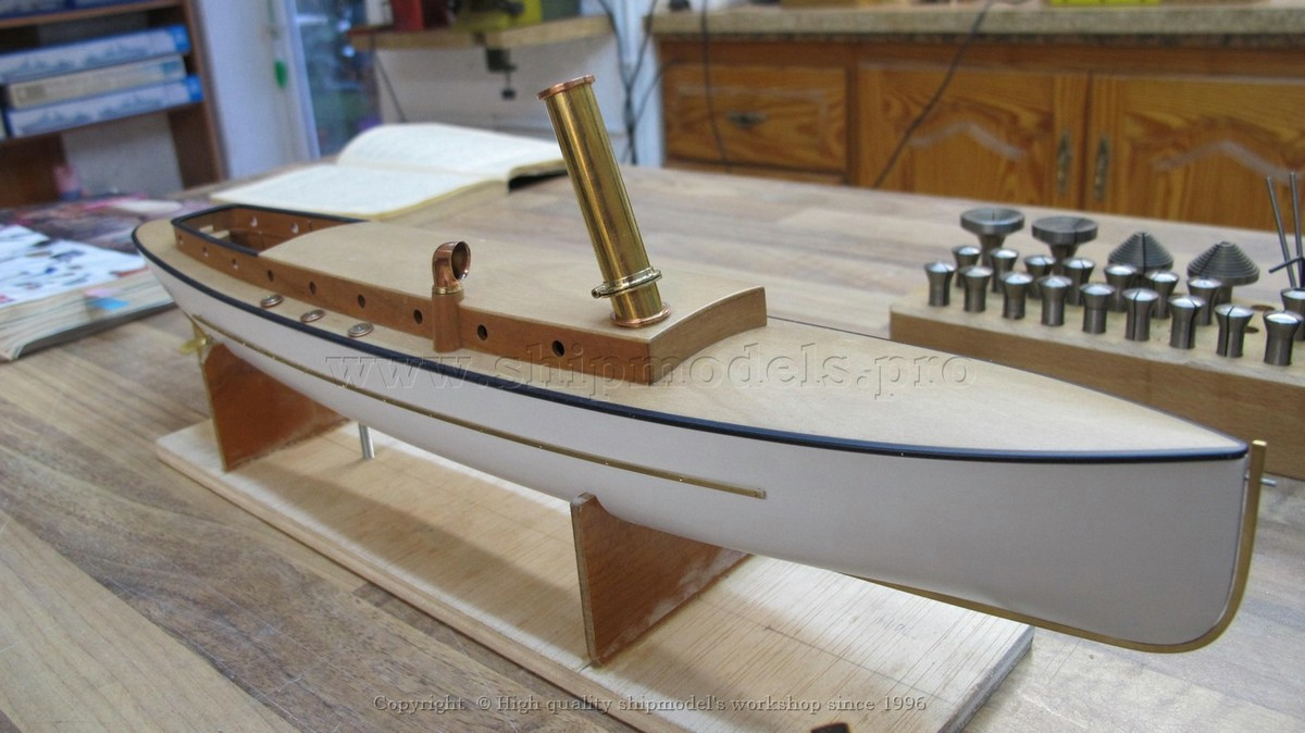 The model of 51-feet Steam Torpedo boat (Russia), 1890 year. Scale 1:36